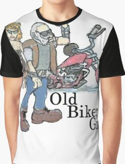 Old Biker git Graphic T-Shirt