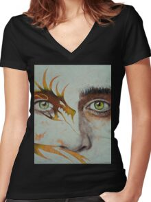 Beowulf Women's Fitted V-Neck T-Shirt