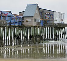 Old Orchard Beach Pier in Winter by MaryinMaine