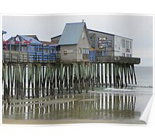 Old Orchard Beach Pier in Winter Poster