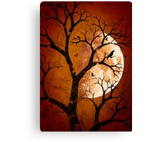 October Moon (Red) Canvas Print