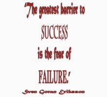 """""""The greatest barrier to success"""" by PaprikaFaa"""
