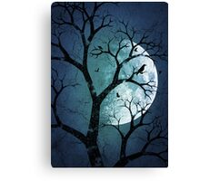 October Moon (Blue) Canvas Print