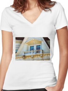 No Sun Chairs Here Either, Pete Women's Fitted V-Neck T-Shirt