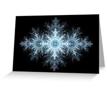 Snowflake Fractal Greeting Card