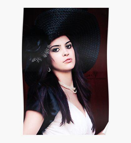 Jessica in Big Hat Poster