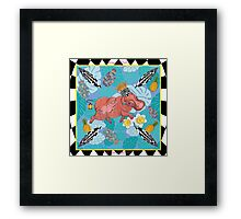 Royal Hippos by Ro London - Menagerie Collection Framed Print