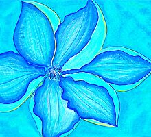 Blue Clematis by Christine Chase Cooper