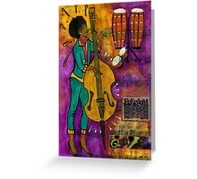 That Sistah on the Bass - Greeting Card Greeting Card