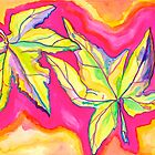 Pop Art Leaves by Christine Chase Cooper