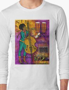That Sistah on the Bass T-Shirt Long Sleeve T-Shirt