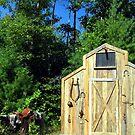 Country Wedding Barnfront by Sandra Hopko