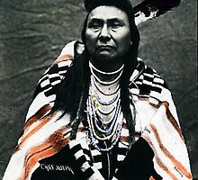 Chief Joseph the Younger-sepia colored print by Artistepoet