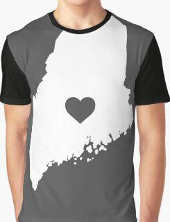 Maine Heart Graphic T-Shirt