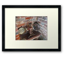 An Old Copper Kettle Framed Print
