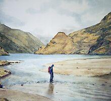 River Carnoch Knoydart by Joyce Grubb