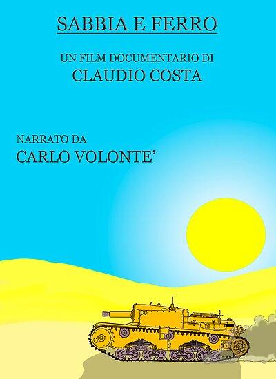 """MOVIE POSTER 12 """"SABBIA E FERRO"""" by CLAUDIO COSTA"""