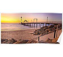 Sunset at Brighton, Adelaide, South Australia Poster