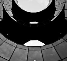 South bank of london building abstract Black and white by DavidHornchurch