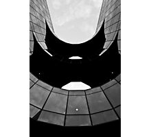South bank of london building abstract Black and white Photographic Print