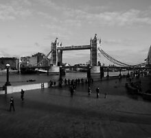 Black and white view of Londons Southbank by DavidHornchurch