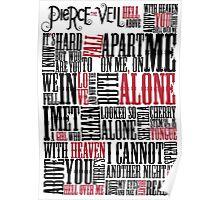 Pierce The Veil - Hell Above Lyrics Poster