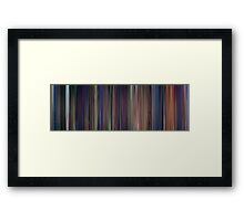 Moviebarcode: The Little Mermaid (1989) Framed Print