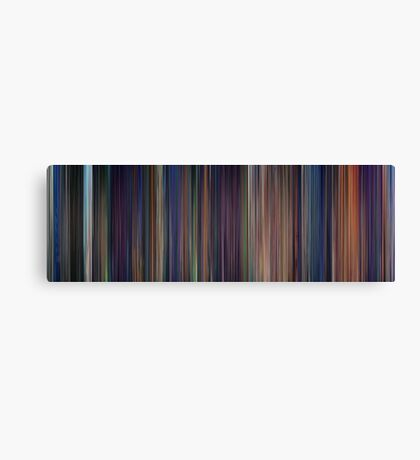 Moviebarcode: The Little Mermaid (1989) Canvas Print