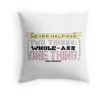 Ron Swanson Parks and Recreation Quote Throw Pillow