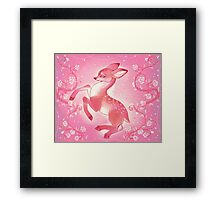 The Pink Rose Fawn Framed Print