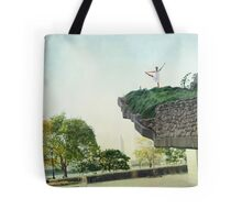 Yoga in the park Tote Bag