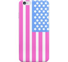 Pink, White and Blue Star Spangled Banner iPhone Case/Skin