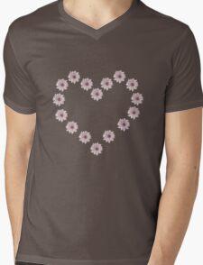 daisy heart Mens V-Neck T-Shirt
