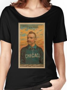 Benjamin K Edwards Collection Cap Anson Chicago White Stockings baseball card portrait Women's Relaxed Fit T-Shirt