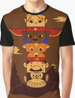 64bit Totem Pole Graphic T-Shirt