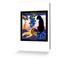 Social Visitor by Ro London - Menagerie Collection Greeting Card