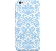 Vintage Damask Pattern in Blue and White iPhone Case/Skin