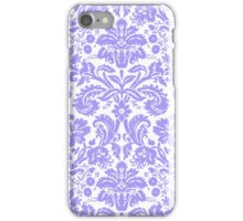 Vintage Damask Pattern in Lilac Purple and White iPhone Case/Skin