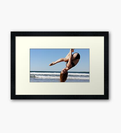 Aerial Hoop Trapeze Beach Camp Framed Print