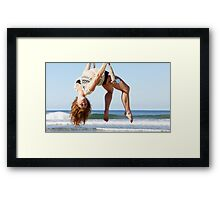 Static Trapeze at the Trapeze Beach Camp Framed Print