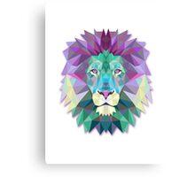 Polygonal Lion Canvas Print