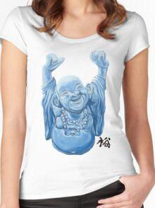 Abundance Buddha Women's Fitted Scoop T-Shirt
