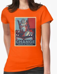 Change into A Truck Womens Fitted T-Shirt