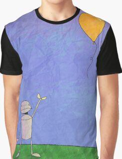 Sad Robot - The Balloon Graphic T-Shirt