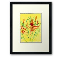 Day Lillies Framed Print