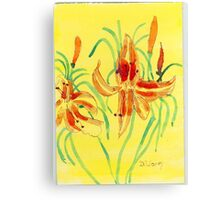 Day Lillies Canvas Print