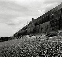 The Sea Defence Wall - Sheringham by Richard Flint