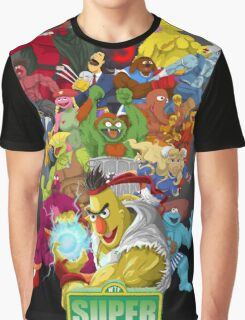Super Sesame Street Fighter Graphic T-Shirt