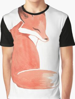 Watercolor Fox Graphic T-Shirt