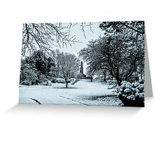 In the park . Greeting Card